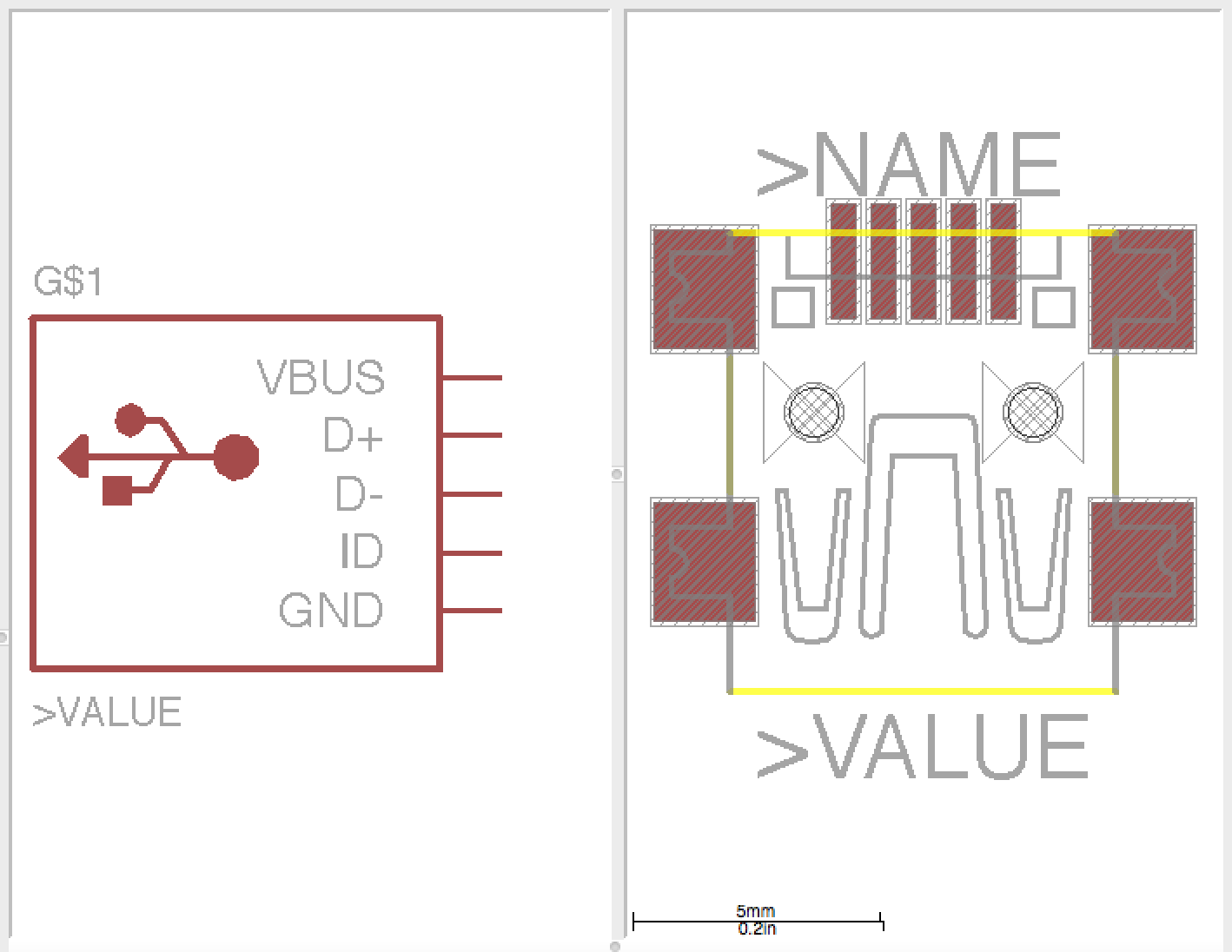 Week 4 Designing Circuit Boards Diy Devices How To Design Usb Mini B Connector