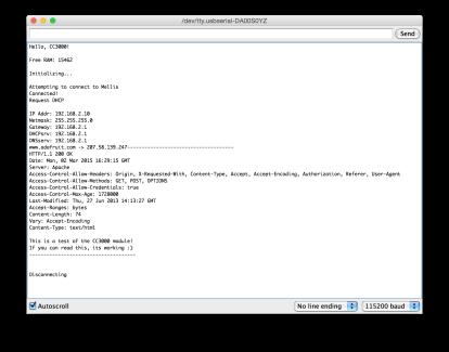 WebClient output